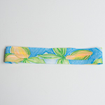 Light Blue / Lime 3 Pleats Printed Puggaree Hat Bands