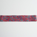 Red Paisley 3 Pleats Poly Printed Puggaree Hat Bands