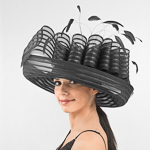 Large Pleated Profile Crinoline Hats