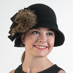 Cloche Hat With Fur Hats