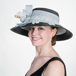 Metallic Lace Trim Poly Hats