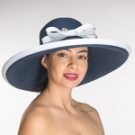 Navy White Trim Toyo Swinger Sun Hats
