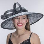 c422bd3586356 Black White Croched Sinamay On Headband Hats