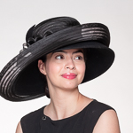 Wide Crinoline layer Wool Felt Hats