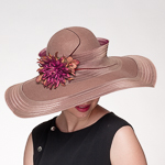 Wide Crinoline Edge Wool Felt Swinger Hats