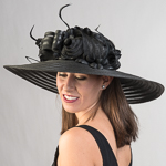Large Poly Straw Round Crown Sun Hats
