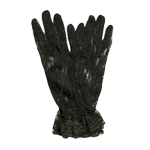 Black 10'' Wrist Length Lace Gloves