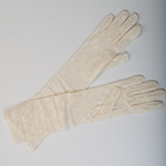 Ivory 16 Inches Lace Gloves