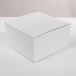 White 10''X10''X6'' Paper Square Hat Box