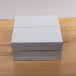 White 12''X12''X6'' Paper Square Hat Box