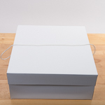 White 16''X16''X7'' Paper Square Hat Box