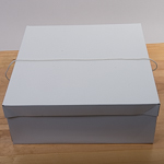 White 18''X18''X7'' Paper Square Hat Box