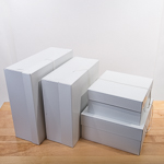 White Boxes Comb 12'',14'',16'',18'' Paper Square Hat Boxes