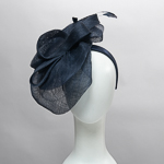 Navy Double layer Sinamay Headband Fascinator Cocktail Hats