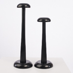 Black 2 Pieces Set Modern Wood Hat Stand